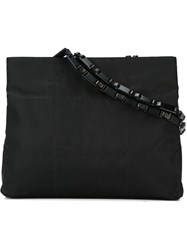 Prada Vintage Chain Handle Tote Black