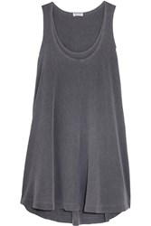 Splendid Cotton Jersey Tank Dress Gray