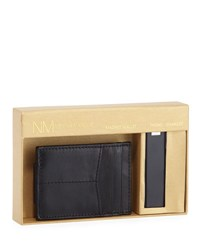 Neiman Marcus Magnetic Wallet And Phone Charger Set Black