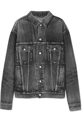 Balenciaga Like A Man Oversized Embossed Denim Jacket Gray Gbp