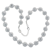 Nina B Sterling Silver Nugget Necklace