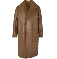 Berluti Shearling Coat Brown