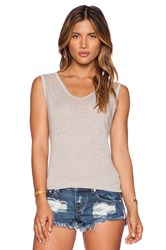 Ever Lola Low Back Tank Taupe