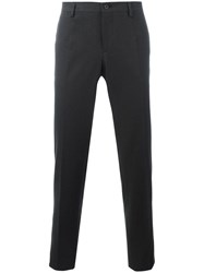 Dolce And Gabbana Patterned Tailored Trousers Black