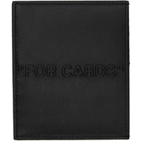 Off White Black Bold Quote Card Holder