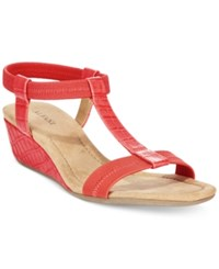 Alfani Women's Voyage Wedge Sandals Only At Macy's Women's Shoes Watermelon