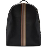 Paul Smith Black Multistripe Backpack 79 Black