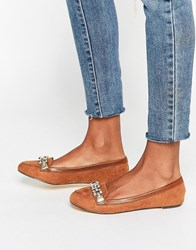 Oasis Chain Trim Loafer Tan
