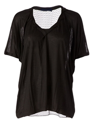 Sharon Wauchob Sheer Net T Shirt Black
