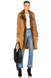 Burberry London Shearling Coat In Brown Neutrals Brown Neutrals