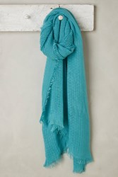 Anthropologie Pop Of Color Scarf Turquoise