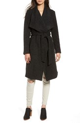 Bb Dakota Women's Issac Ribbed Blanket Coat Charcoal Grey