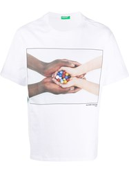 United Colors Of Benetton Short Sleeve Hands Print T Shirt 60