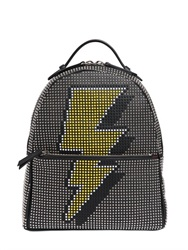 Les Petits Joueurs Mick Flash Studded Leather Backpack
