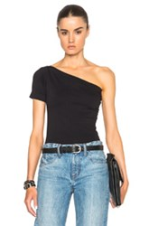 Helmut Lang Asymmetrical Tee In Black