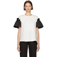 Edit White And Black Frill T Shirt
