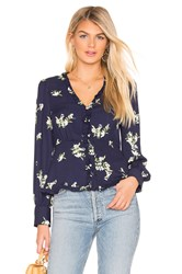 Cupcakes And Cashmere Astera Blouse Navy