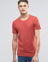 Selected Homme Crew Neck T Shirt Red