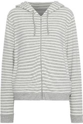 Majestic Filatures Striped French Terry Hoodie Stone