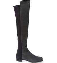 Stuart Weitzman 50 50 Suede Knee High Boots Grey Dark