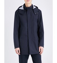 Armani Jeans Two Way Zip Hooded Parka Blue