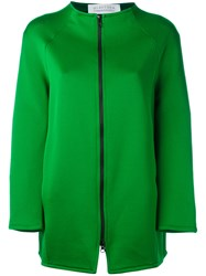Gianluca Capannolo Zipped Jacket Women Nylon Polyester Acetate Viscose 42 Green
