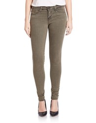 Flying Monkey Stretchy Skinny Jeans Olive