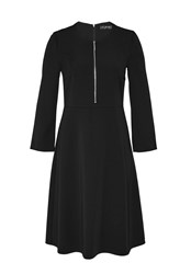 Hallhuber Swinging Zipper Dress Black