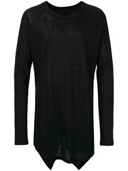 D.Gnak Panelled Lightweight Sweatshirt Black