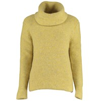 Lowie Virgin Wool Chunky Roll Neck Jumper In Yellow Marl.