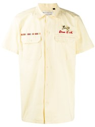 Deus Ex Machina Embroidered Logo Shirt Neutrals