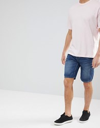 Only And Sons Slim Fit Denim Shorts In Washed Blue Blue Denim