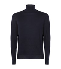 Ralph Lauren Cashmere Roll Neck Knit Male Navy