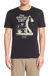 Men's Lucky Brand 'This Guitar Has Seconds To Live' Graphic Crewneck T Shirt Jet Black