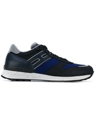Hogan Rebel Lateral Patch Sneakers Men Leather Polyester Rubber 7 Blue