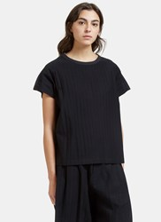 Y 3 Sp Lux Ribbed T Shirt Black