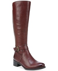 Naturalizer Wynnie Tall Wide Calf Riding Boots Women's Shoes Brown