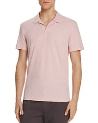 Theory Willem Nebulous Slim Fit Polo Shirt Soft Pink