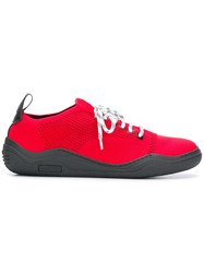 Lanvin Functional Lace Fastened Sneakers Red