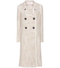 See By Chloe Tweed Coat Beige
