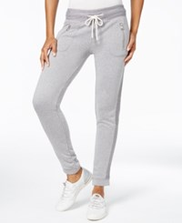 Calvin Klein Performance Tuxedo Striped Jogger Sweatpants Stone