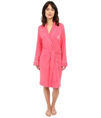Lauren Ralph Lauren Essentials Quilted Collar And Cuff Robe Coral Women's Robe