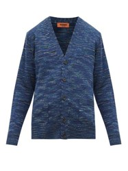 Missoni Space Dyed Wool Cardigan Navy