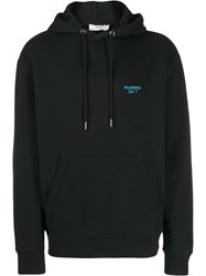Closed Logo Embroidered Hoodie Black