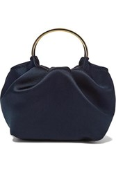 The Row Double Circle Micro Satin Tote Navy