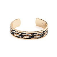 Azuni London Nacona Wide Bangle In Lynx Gold