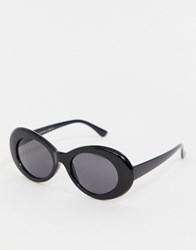 7X Svnx Oval Shape Round Sunglasses Black