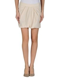 Gold Case Sogno Mini Skirts Beige