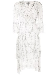 We Are Kindred Elle Floral Print Flounce Dress White