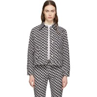 Alexachung Black And White Denim Check Jacket